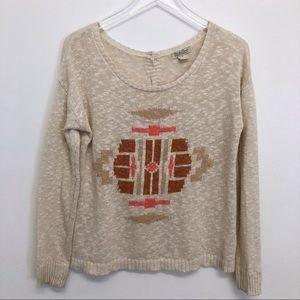 Lucky Brand   Tribal Print Sweater
